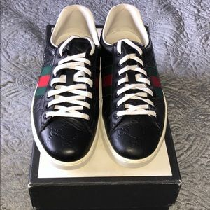 Authentic vintage red/green Gucci sneakers